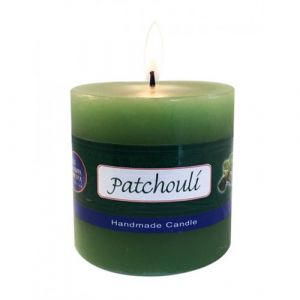 Patchouli Pillar Candle  -   3 X 3 Inch Hand Made-CP-PAT