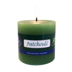 PATCHOULI PILLAR CANDLE - 3 X 3 inch (WHOLESALE)-WS-CP-PAT