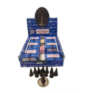 Satya Sai Baba Nag Champa Cones - (Box Of 12 Cones) Dozen-CONES-SSB-DZ
