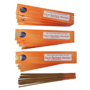 NAG CHAMPA SANDALWOOD Incense (15 sticks) - DOZEN (WHOLESALE)-WS-SANDAL-15-DOZ