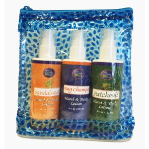 Nag Champa Spa Lotion Trio (Nag Champa, Sandalwood, Patchouli) Father's Day Special-SPA-11