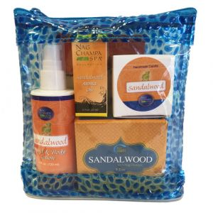 Sandalwood Lover's Spa Gift Set (Lotion, Soap, Oil, Candle, Sachet) + Free Solid Perfume-SPA-6