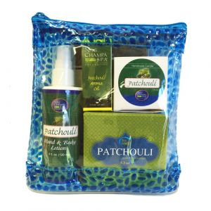 Patchouli Lover's Spa Gift Set  (Lotion, Soap, Oil, Candle)-SPA-7