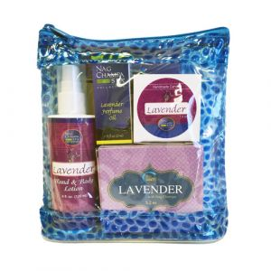 Lavender Lover's Spa Gift Set (Lotion, Soap, Oil, Candle, Sachet)-SPA-8