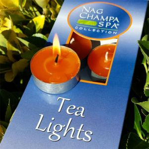Nag Champa Tea Light Candles - Gift Box Of 10-CAN-TEA