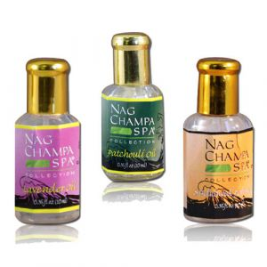 Aroma / Perfume Oil Trio - Lavender, Sandalwood, Patchouli (3 x 1/3 oz. Bottles)-OIL-TRIO