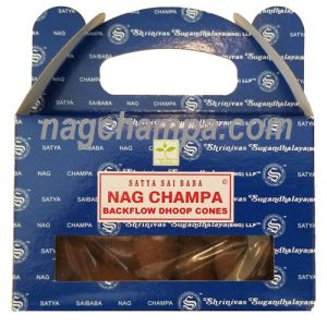 Nag Champa Backflow Cones (Satya) - Box Of 24-BFCONES-NAG