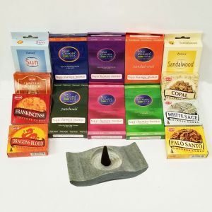 Cone Grab Bag - 14 Boxes Of Cone Incense (180 Cones) with Soapstone Holder-CONE-ASST