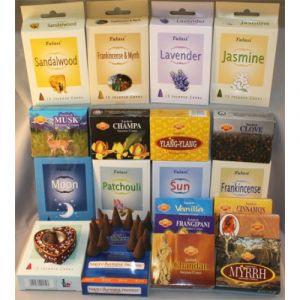 Cone Grab Bag - 15 Boxes Of Cone Incense (180 Cones) with Free Holder-CONE-ASST