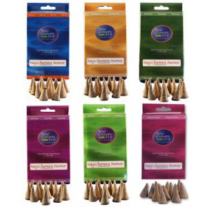 Nag Champa Gold Cones - Sampler Pack- 12 Boxes Of Cones-SMP-CONE