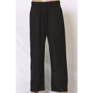 Yoga Pants - 100% Cotton- Black-D-108B