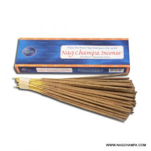 Nag Champa Gold Incense - 100 Hand Rolled Sticks-GOLD-100