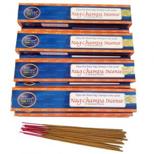 NAG CHAMPA GOLD Incense (15 sticks) - Dozen Boxes (WHOLESALE)-WS-GOLD-15