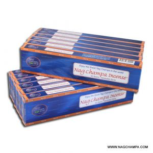 NAG CHAMPA GOLD INCENSE (40 Sticks) - Dozen Boxes- WHOLESALE-WS-GOLD-40