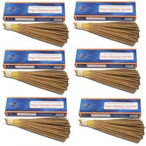 Nag Champa Gold Incense (100 Sticks)  6-Pack (Total 600 Sticks)-GOLD-100-6