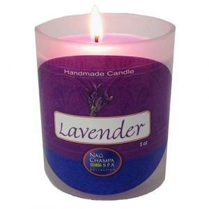 Lavender Candle Jar From Nag Champa Spa-JAR-LAV