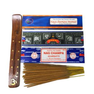 Nag Champa Trio - (3 Boxes X 40 Sticks Each) With Free Burner-NAG-TRIO-40