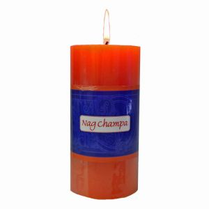 Nag Champa Pillar Candle - 3 X 6 Inch Hand Made-CP-NAG-3x6