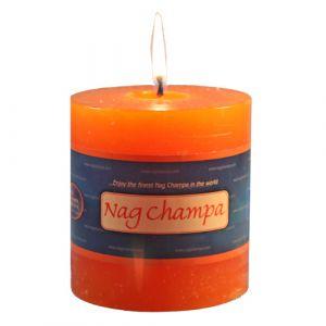 Nag Champa Pillar Candle - 3 X 3 Inch Hand Made-CP-NAG