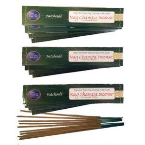 NAG CHAMPA PATCHOULI Incense (15 sticks) - DOZEN (WHOLESALE)-WS-PATCHOULI-15-DOZ