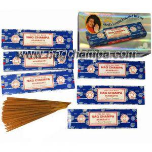 Satya Sai Baba NAG CHAMPA (100gm.) 6-Pack (WHOLESALE)-WS-SAI-100-6