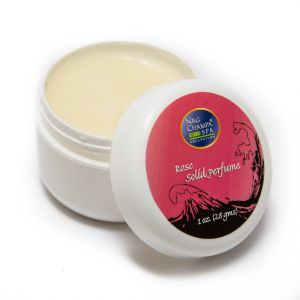 Rose Solid Perfume In A Natural Beeswax Base. Large 1 Oz. Jar.-SOLID-PERF-ROSE