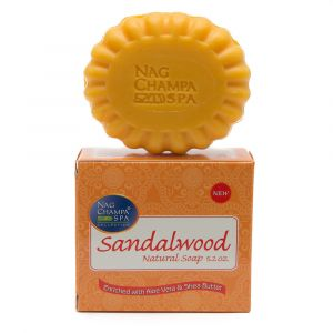 SANDALWOOD SOAP by Nag Champa Spa (150gm) 6 PACK (WHOLESALE)-WS-SAN-150-6