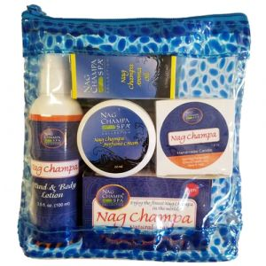 Nag Champa Lover's Spa Gift Set  (Lotion, Soap, Oil, Candle, Sachet + Solid Perfume)-SPA-2