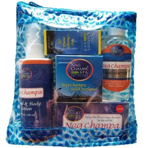 Nag Champa Lover's - WASH YOUR HANDS! Gift Set (Soap, Hand Sanitizer, Hand Lotion, Aroma Oil and Solid Perfume)-SPA-30