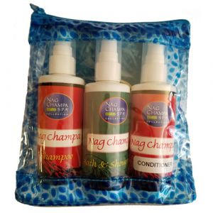 NAG CHAMPA SHAMPOO, SHOWER GEL AND CONDITIONER GIFT SET-SPA-3