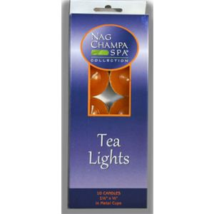 NAG CHAMPA TEA LIGHT CANDLES - Gift Box of 10   (WHOLESALE)-WS-CAN-TEA